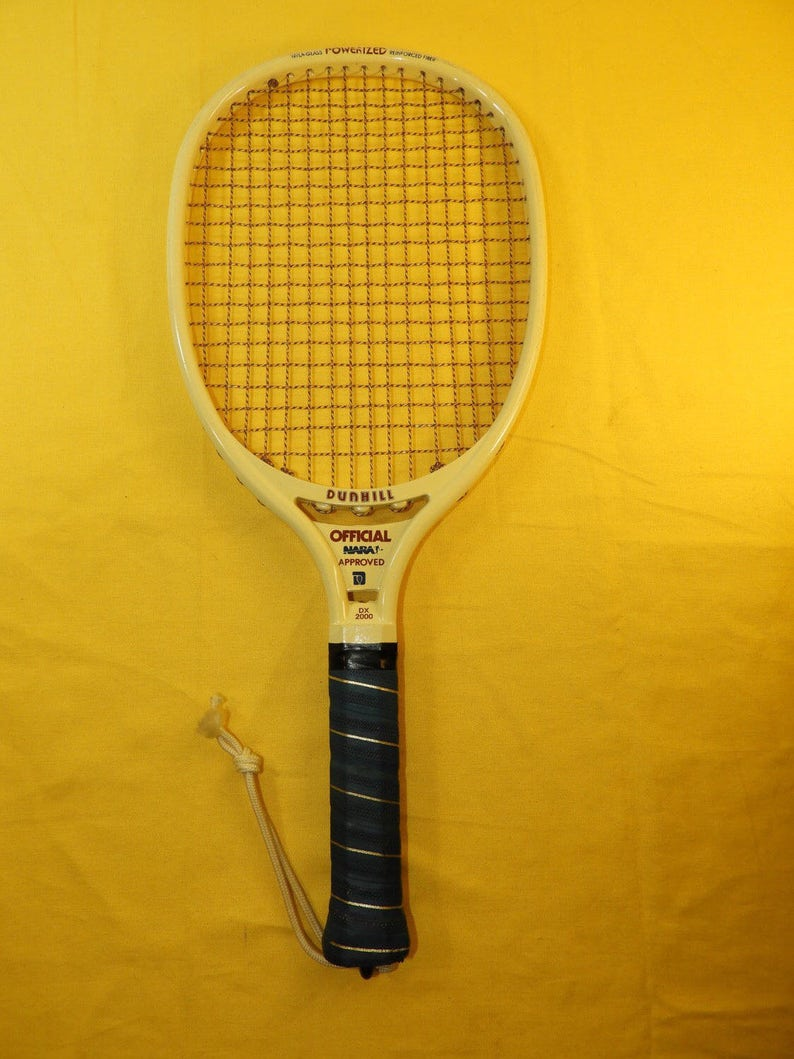 Vintage Rare Dunhill Racquet Sports Ball Racket,DX 2000 Official NARA  Approved Racket,NylaGlass Reinforced Fiber Powerized Racket,Raquetball