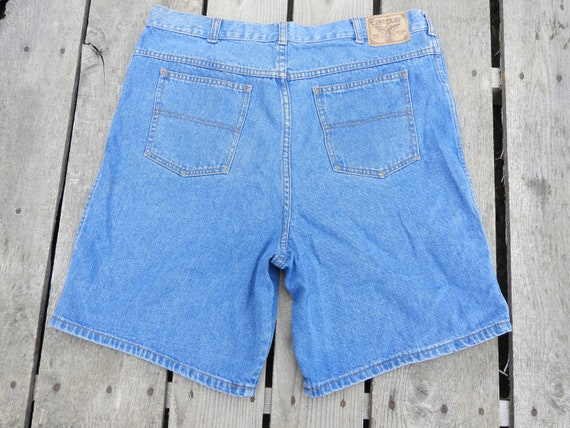 "Vintage High Waist Mom Shorts, Womens 34"" Waist Je"