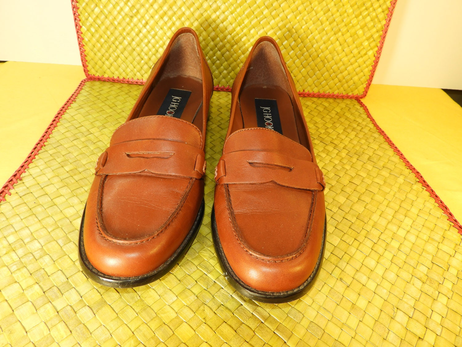 Vintage Penny Loafers JG Hook Shoes Size 9M, Womens Shoes