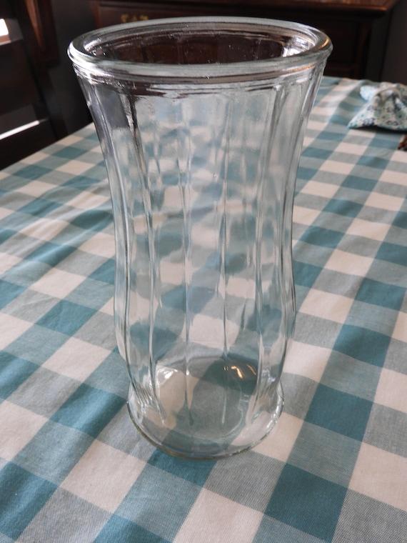Vintage Garcia Group Glass Vase Clear Glass Planter Vase Ggg Etsy