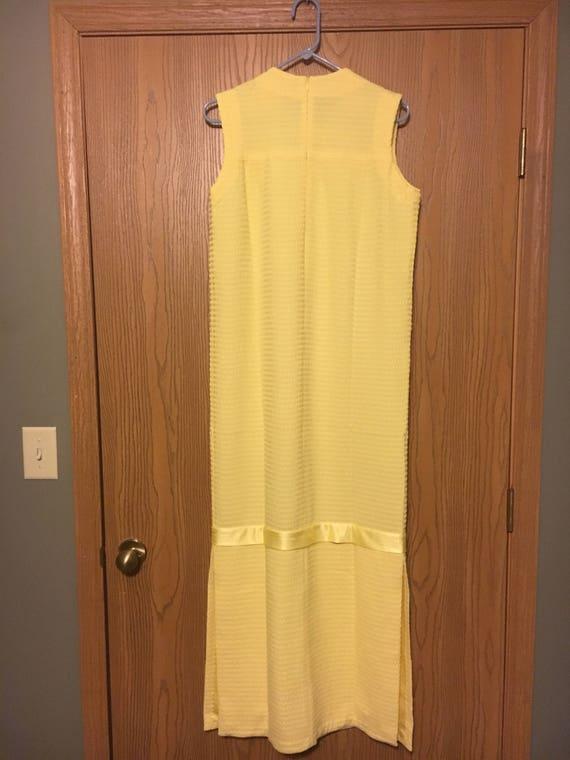 or Yellow Dress Rare Retro Fun 8 Clothing Formal Size Entertainment Evening Dress Gown Sunday 1980's Vintage Dress wATqg7g