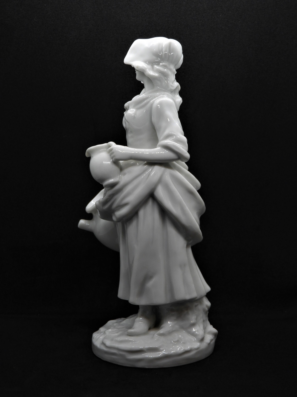 Vintage Renaldizs Figurine, White Bisque Porcelain, European
