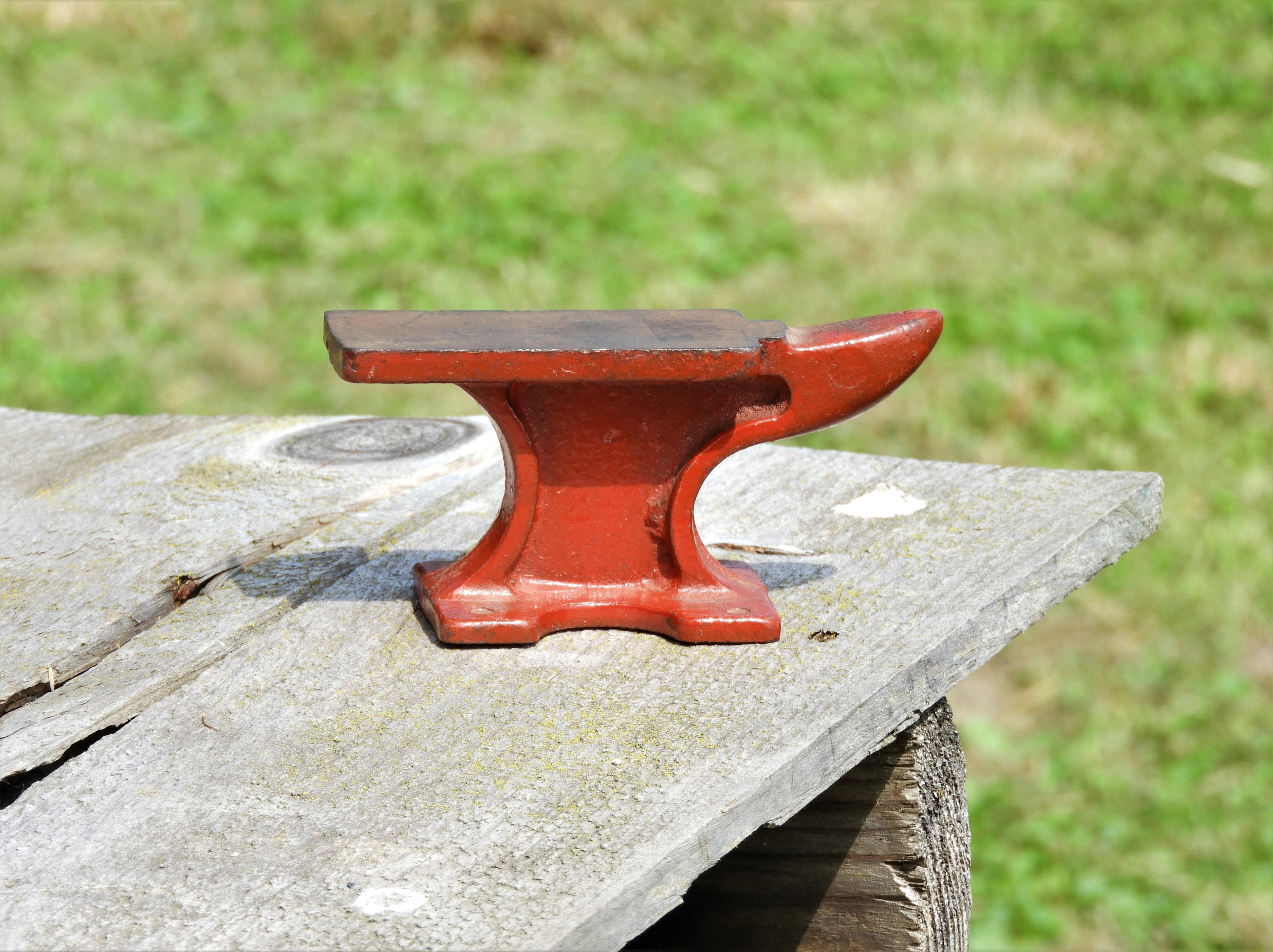 Vintage Jewelers Anvil, Red Smiths Tool, Metal Shaping