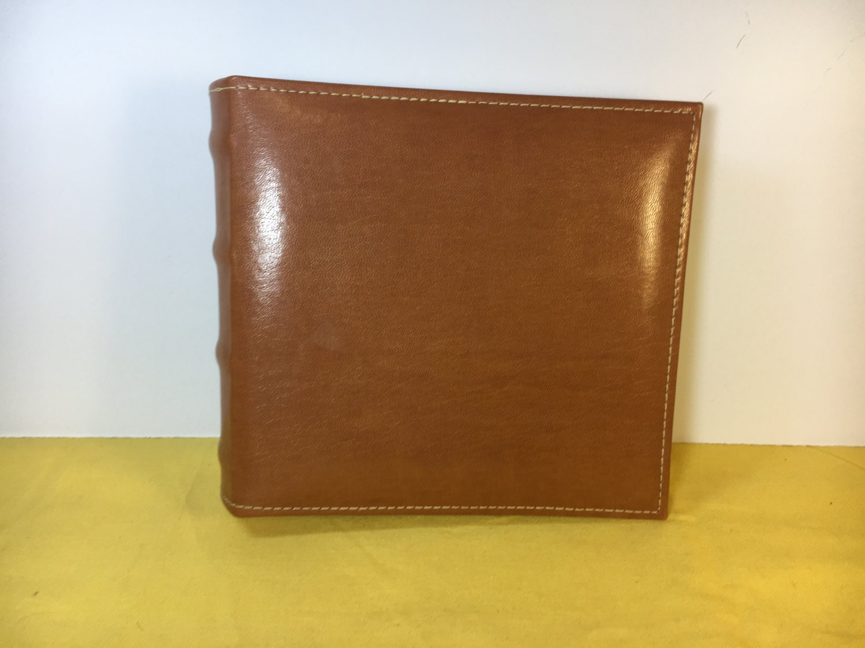 Vintage Leather Photo Album Index Burnes Of Boston Brown Picture