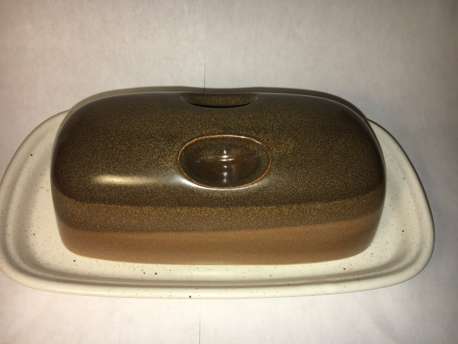 Vintage Butter Dish Collectible Mikasa Potters Art Butter Dish Ben