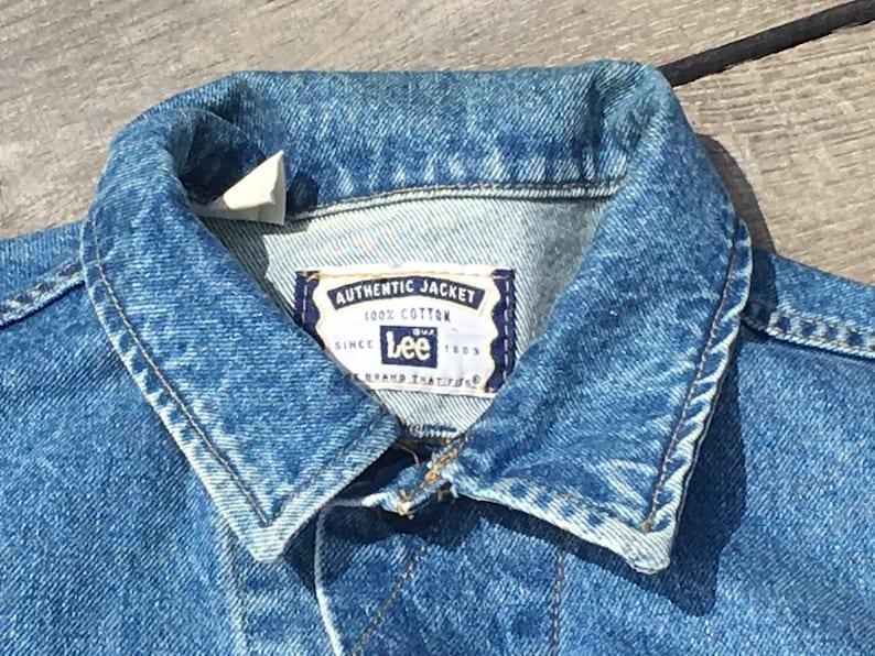 Men/'s L Regular Blue Jean Coat Vintage Lee Cowboy Jacket Authentic Lee Riding Coat 100/% Cotton Denim Ranch Jacket Farm Fashion Jacket