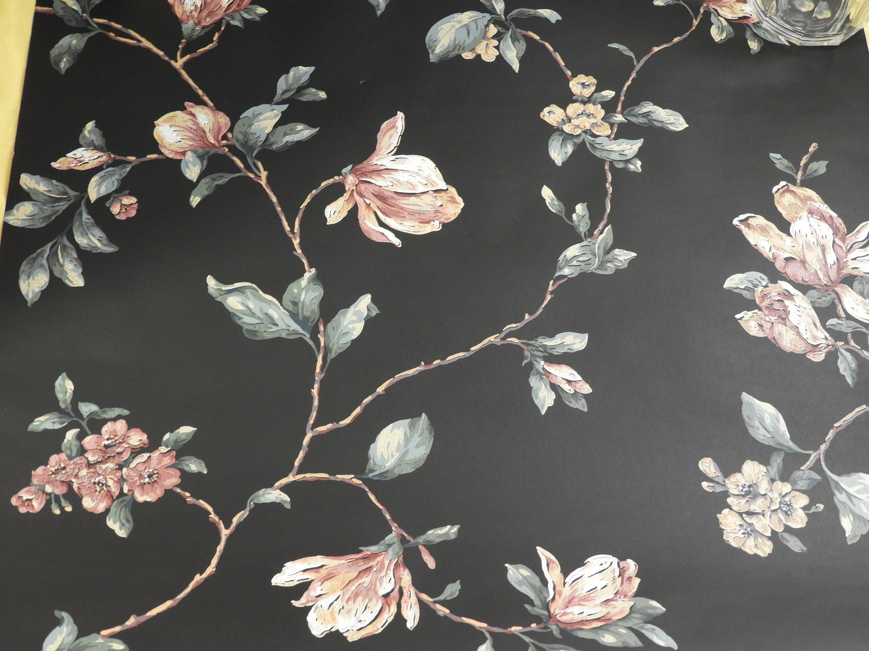 Vintage Black Pink Wallpaper Carey Lind Dining Room