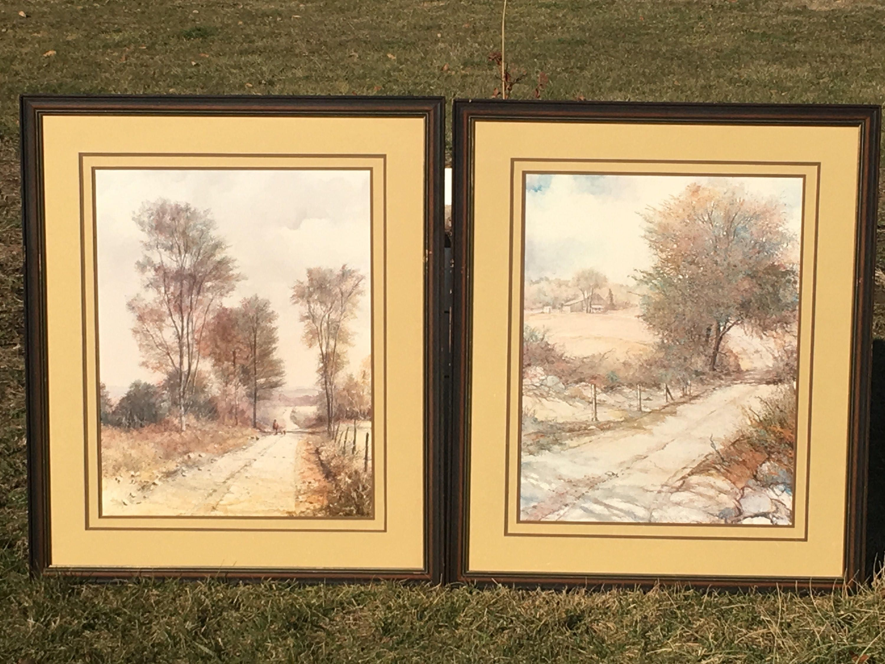 Vintage Framed Pictures, Signed Mallon Prints, Decorative Way Home ...