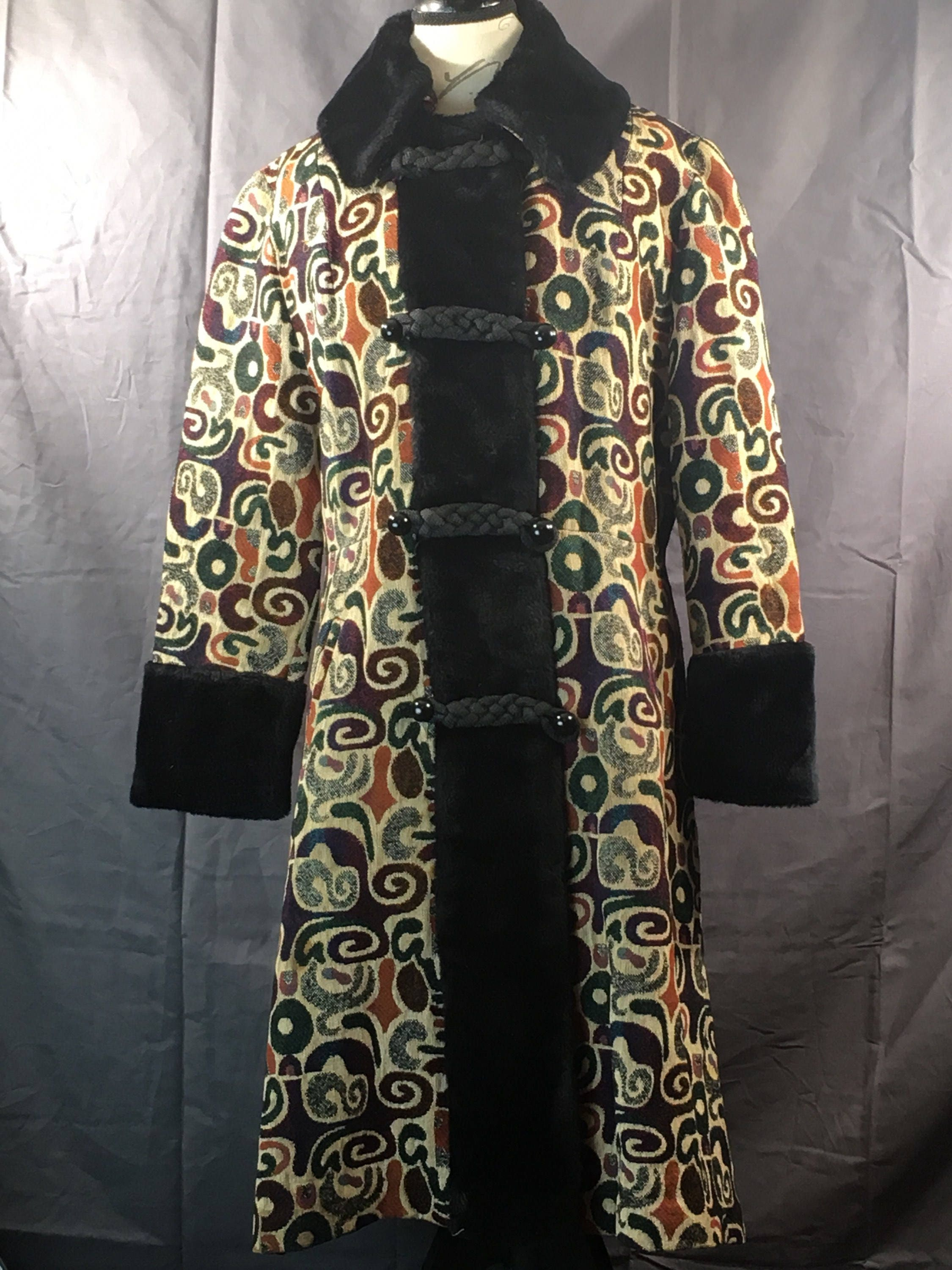 114592307db Vintage Womens Tapestry Coat