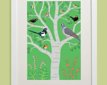 Garden Birds (Unframed Print)