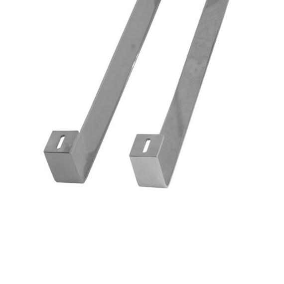 "Set Solid Metal Furniture Legs  Cabinet Legs U-Shape 36/"" Stainless Steel  2PC"
