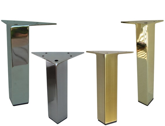 Awesome Metal Furniture Legs Metal Feet 7H Brushed Brass Gold Shiny Brass Chrome Satin Finish Square Furniture Legs Unique Diy Affordable 4Pc Ibusinesslaw Wood Chair Design Ideas Ibusinesslaworg