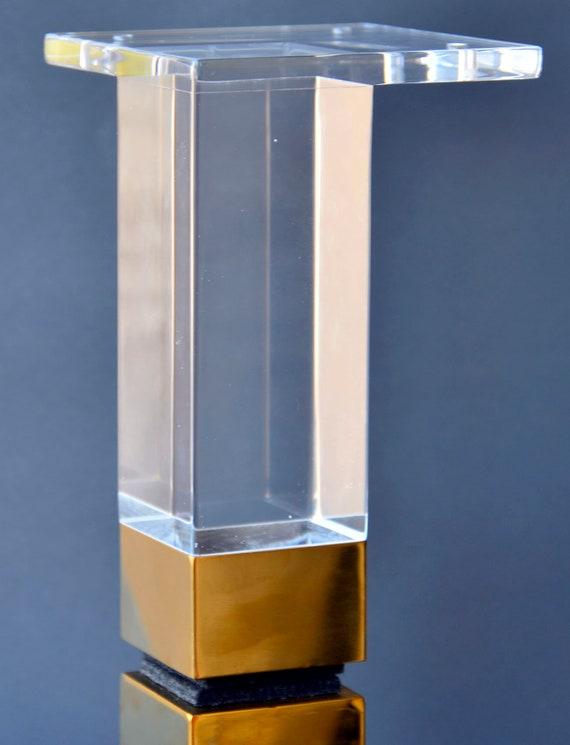 Acrylic Lucite Furniture Legs For Sofa, Plexiglass Furniture Legs
