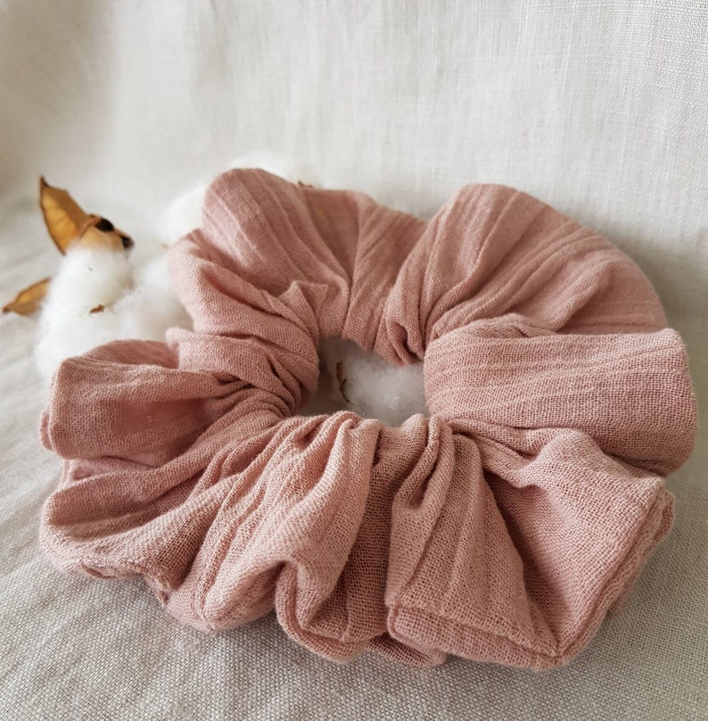 Scrunchie Crinkle Cotton   Dusty Rose image 0