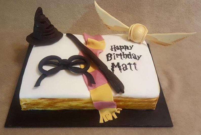 3D Harry Potter Cake Topper Birthday Snitch