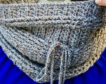 Crochet cowl, crochet scarf, crochet neck warmer