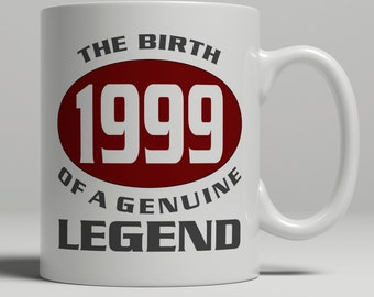 Legend 20th Birthday Gift Mug Idea Born 1999 20 Years Old Best Friend Son Or Daughter