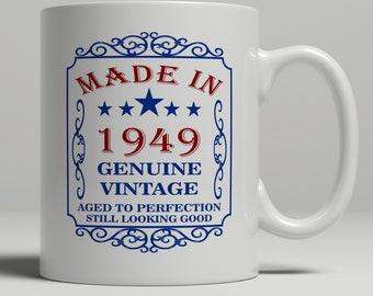 Friend Birthday Mug 70th For Mom Dad Her Born 1949 Gift Wife
