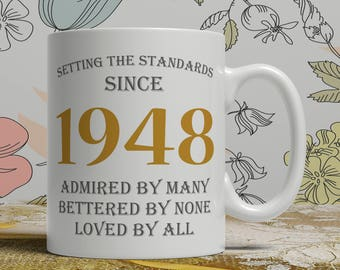 70th Birthday gift for mom, 70th birthday gift for dad, 70th birthday mug