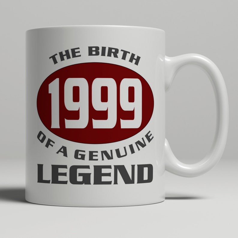 Legend 20th Birthday Gift Mug Idea Born 1999