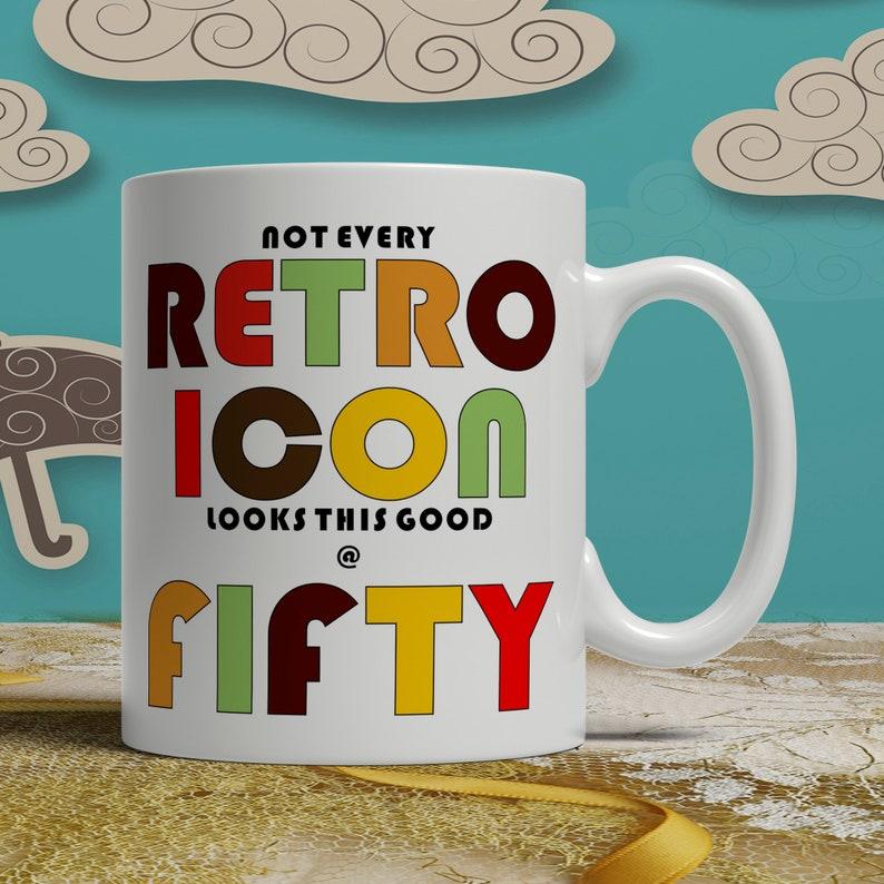 50th Birthday Gift Idea Print Mug Happy Fiftieth Celebration