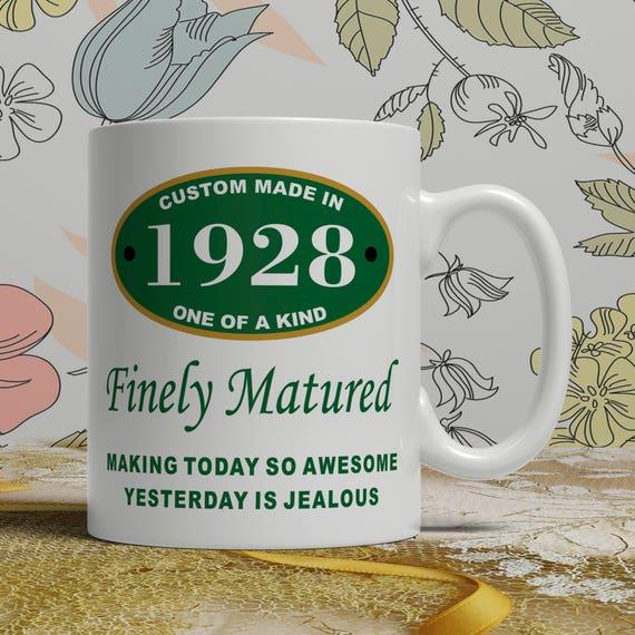Born 1928 Birthday Gift For Her 90th Mug
