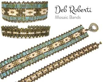 Mosaic Bands beaded pattern tutorial by Deb Roberti