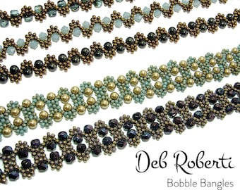 Bobble Bangles beaded pattern tutorial by Deb Roberti