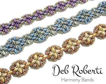 Harmony Bands beaded pattern tutorial by Deb Roberti