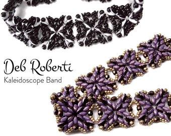 Kaleidoscope Band beaded pattern tutorial by Deb Roberti