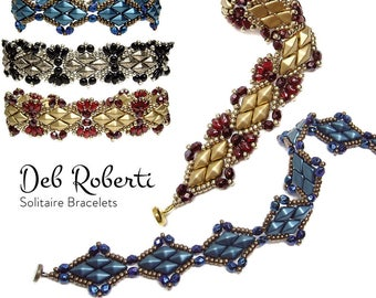 Solitaire Bracelets beaded pattern tutorial by Deb Roberti