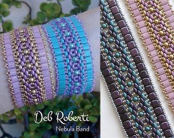Nebula Band beaded pattern tutorial by Deb Roberti