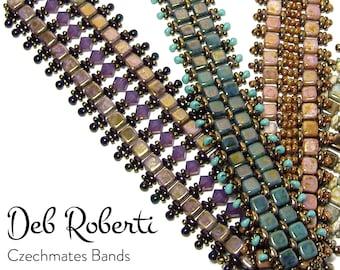 Czechmates Bands beaded pattern tutorial by Deb Roberti