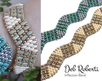Inflection Band beaded pattern tutorial by Deb Roberti