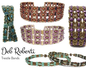 Trestle Bands beaded pattern tutorial by Deb Roberti
