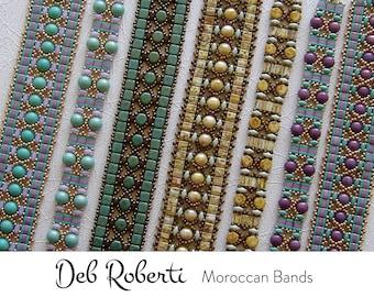 Moroccan Bands beaded pattern tutorial by Deb Roberti