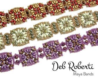 Maya Bands beaded pattern tutorial by Deb Roberti