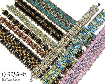 Tila Twin Bands beaded pattern tutorial by Deb Roberti