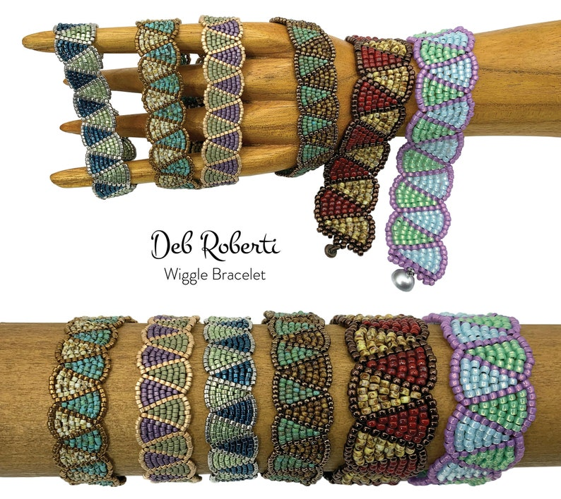Wiggle Bracelet beaded pattern tutorial by Deb Roberti image 0