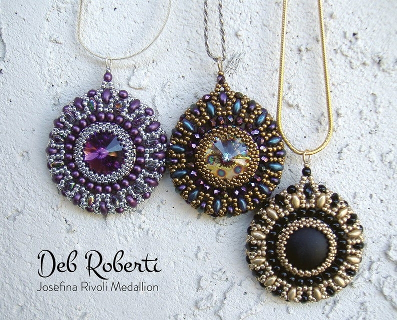 Josefina Rivoli Medallion beaded pattern tutorial by Deb image 0