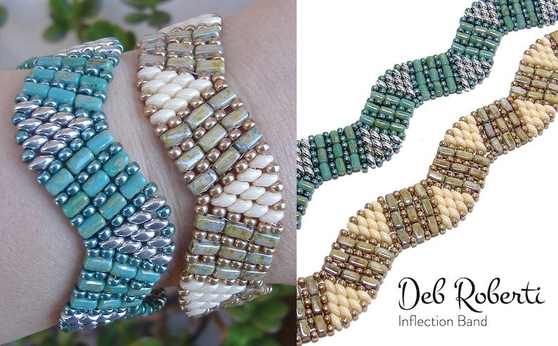 Inflection Band beaded pattern tutorial by Deb Roberti image 0
