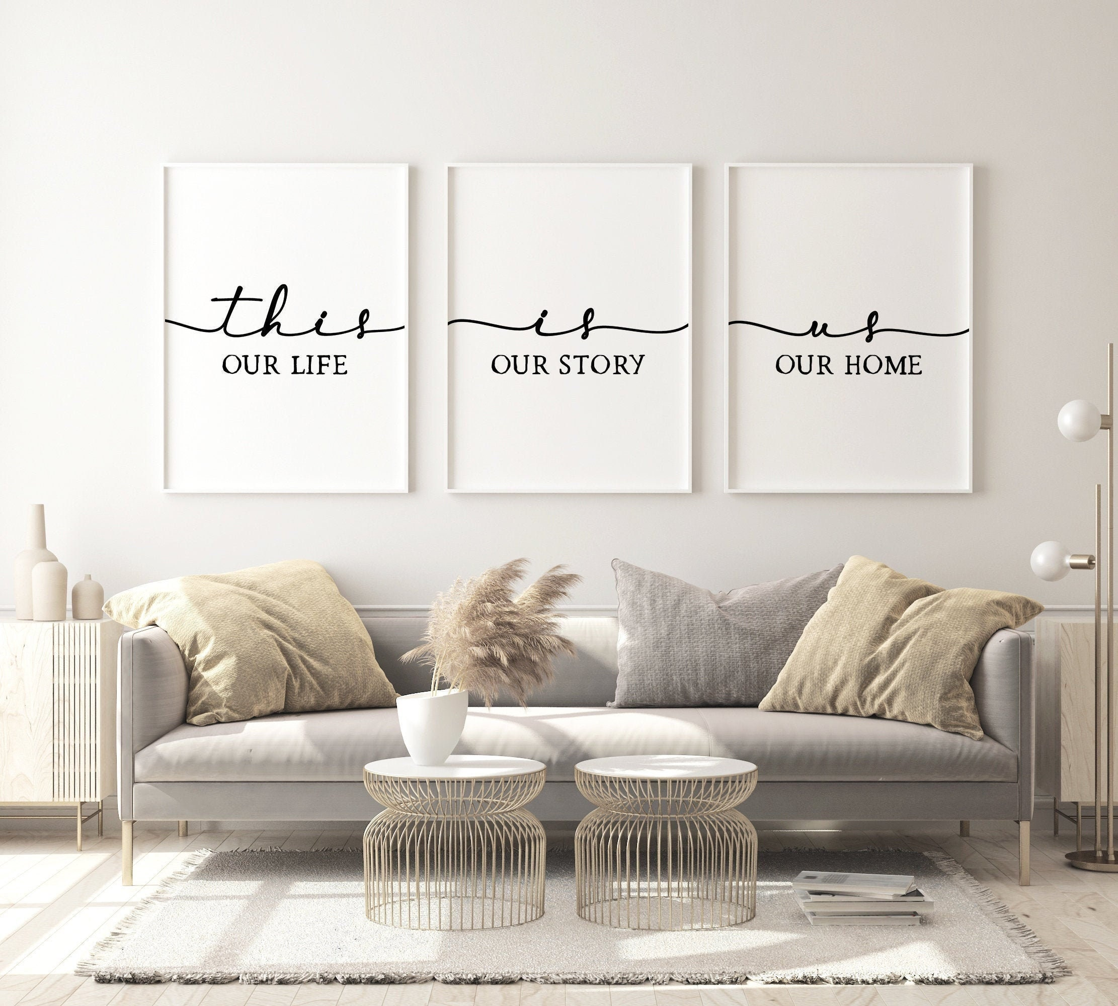 3 This Is Us,Our Life Our Story Our Home Printable,Living Room Wall Art,Home Decor Prints,Set Of 3 Prints,Minimalist Sign,Scandinavian Art