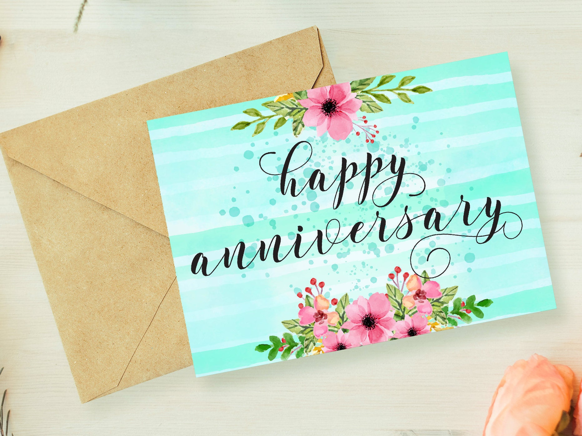 Anniversary Card Printableanniversary Card For Etsy