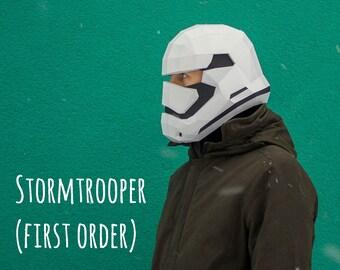 STORMTROOPER FIRST ORDER Stormtrooper Helmet Pdf File Template Star Wars 1st Order Print Pattern