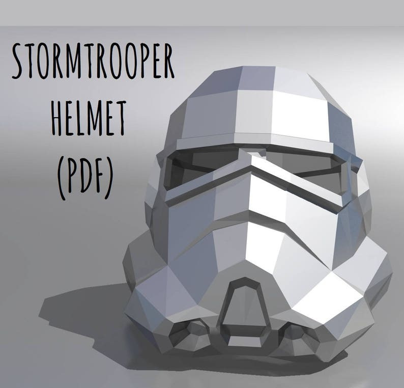 photo relating to Stormtrooper Stencil Printable called Stormtrooper helmet (template + education) / Printable Mask / PDF Package Template / Star Wars helmet / 3D Origami / Do it yourself Reward