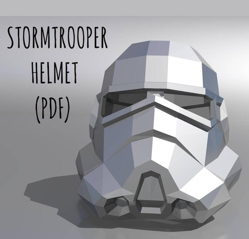 photo relating to Stormtrooper Mask Printable named Stormtrooper helmet (template + education and learning) / Printable Mask / PDF Package Template / Star Wars helmet / 3D Origami / Do it yourself Present