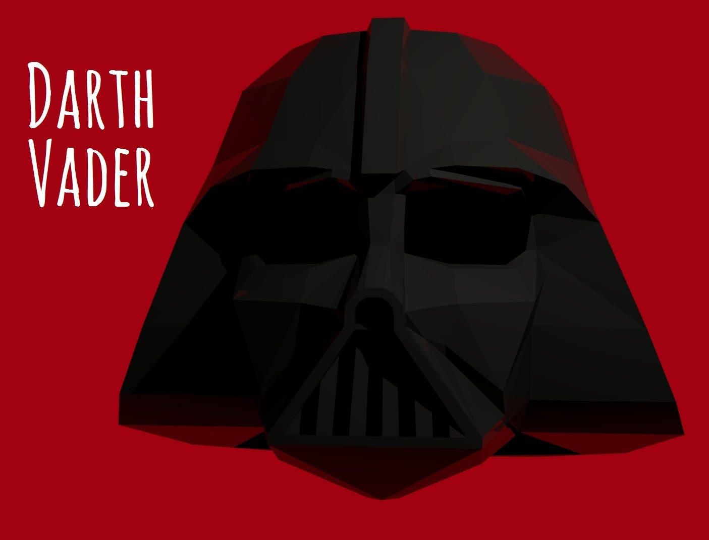 Darth Vader Helmet Template For Print Instruction Star Etsy