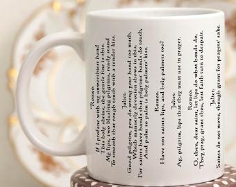 literary mugs - love quote coffee mug - Romeo and Juliet Quotes Mug, Shakespeare Gifts Mug with Quote, Coffee Mug with Shakespeare Quote