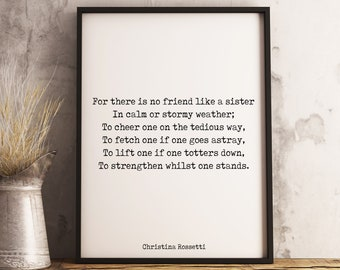 Quote About Sisters Etsy