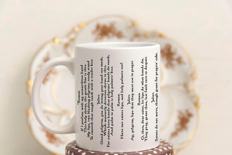 literary mugs love quote coffee mug romeo and juliet